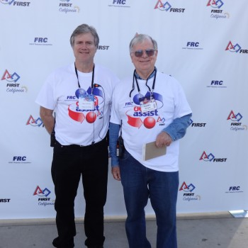 Chair Alan Hollman and Volunteer Coordinator Dr. Galen Wright