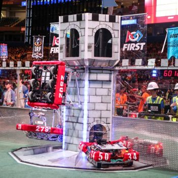 2016 FIRST Championship Red Tower with Hanging Robots