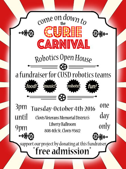 2016 CURIE Carnival Flyer